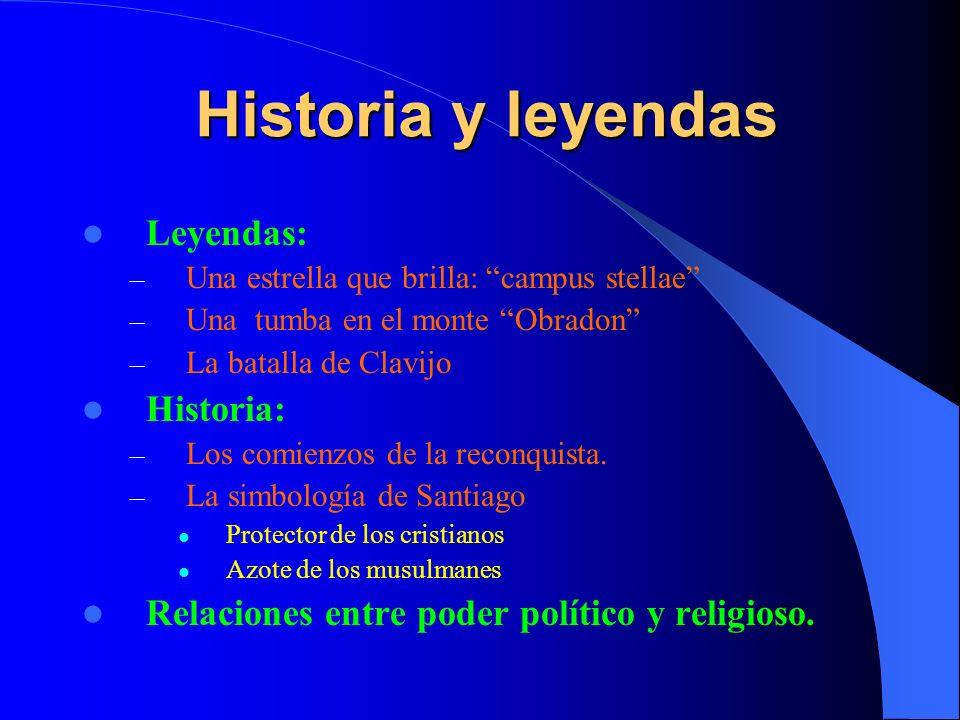 Leyenda - A comienzos del siglo IX se cuenta cómo una luz brillante aparece cerca de la ciudad de iria Flavia, y señala hacia el monte obradon.