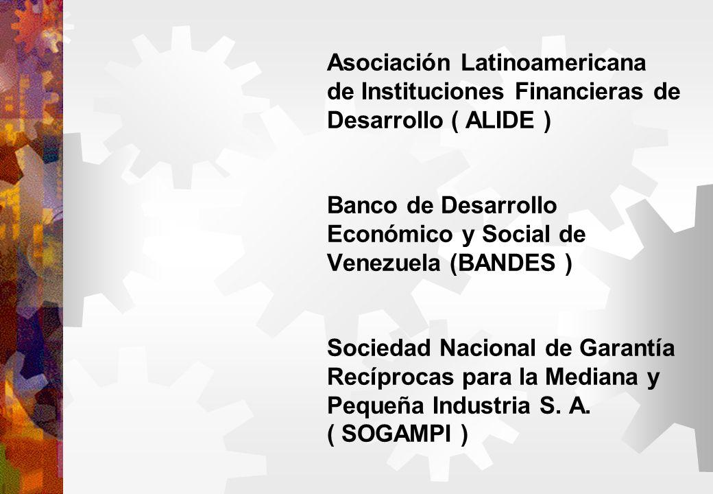 Asociación Latinoamericana de Instituciones Financieras de Desarrollo ( ALIDE ) Banco de Desarrollo Económico y Social de Venezuela (BANDES ) Sociedad