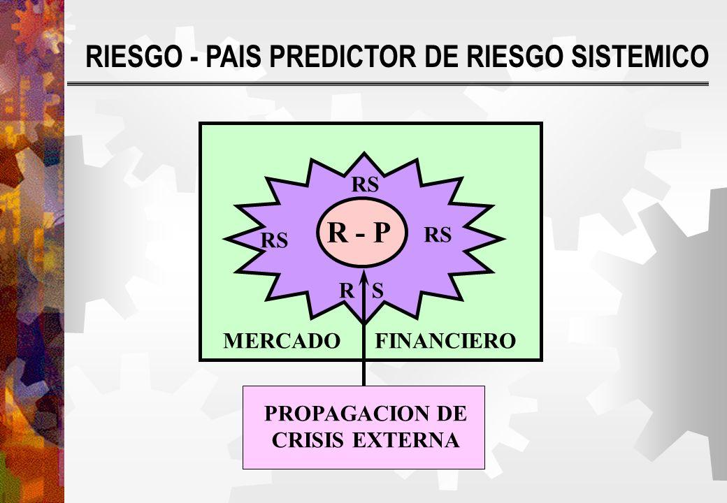 R - P MERCADO FINANCIERO R S PROPAGACION DE CRISIS EXTERNA RIESGO - PAIS PREDICTOR DE RIESGO SISTEMICO