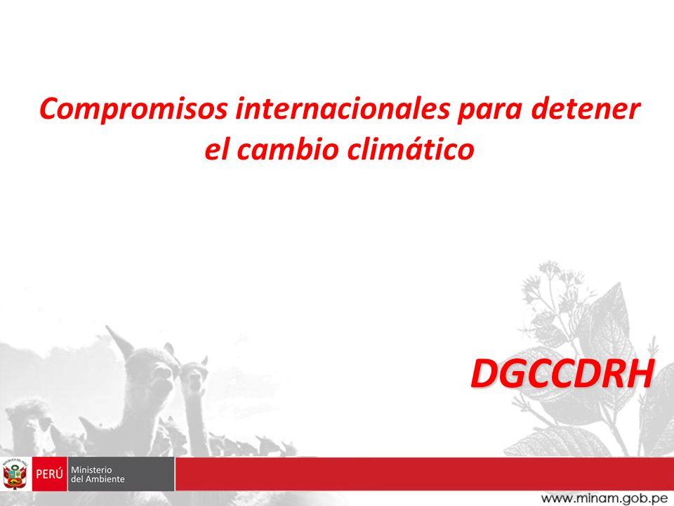 Compromisos internacionales para detener el cambio climático DGCCDRH