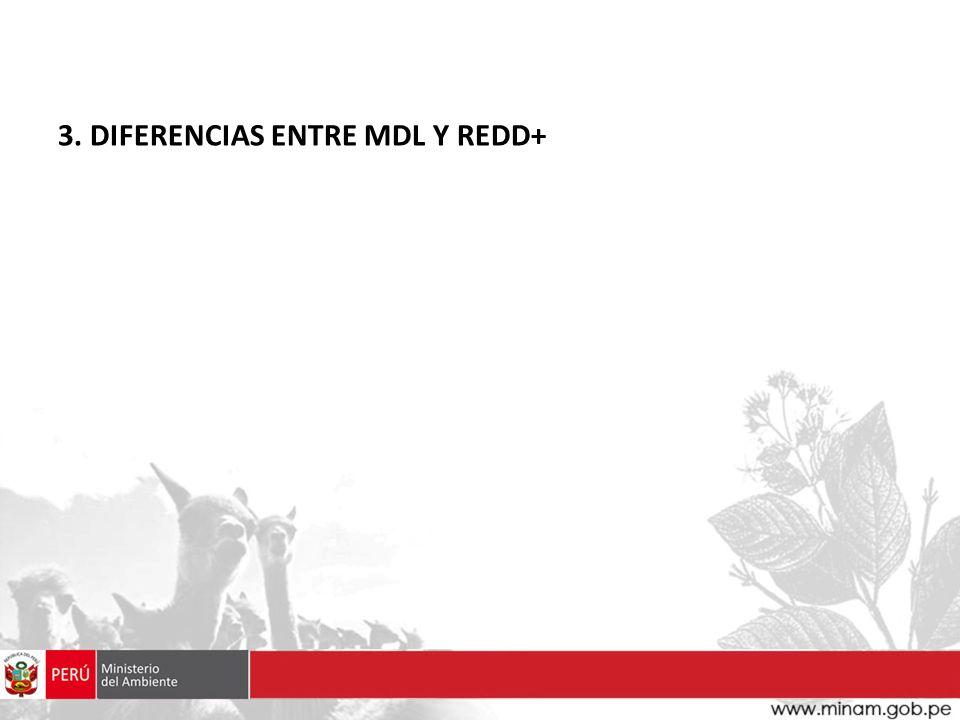 3. DIFERENCIAS ENTRE MDL Y REDD+