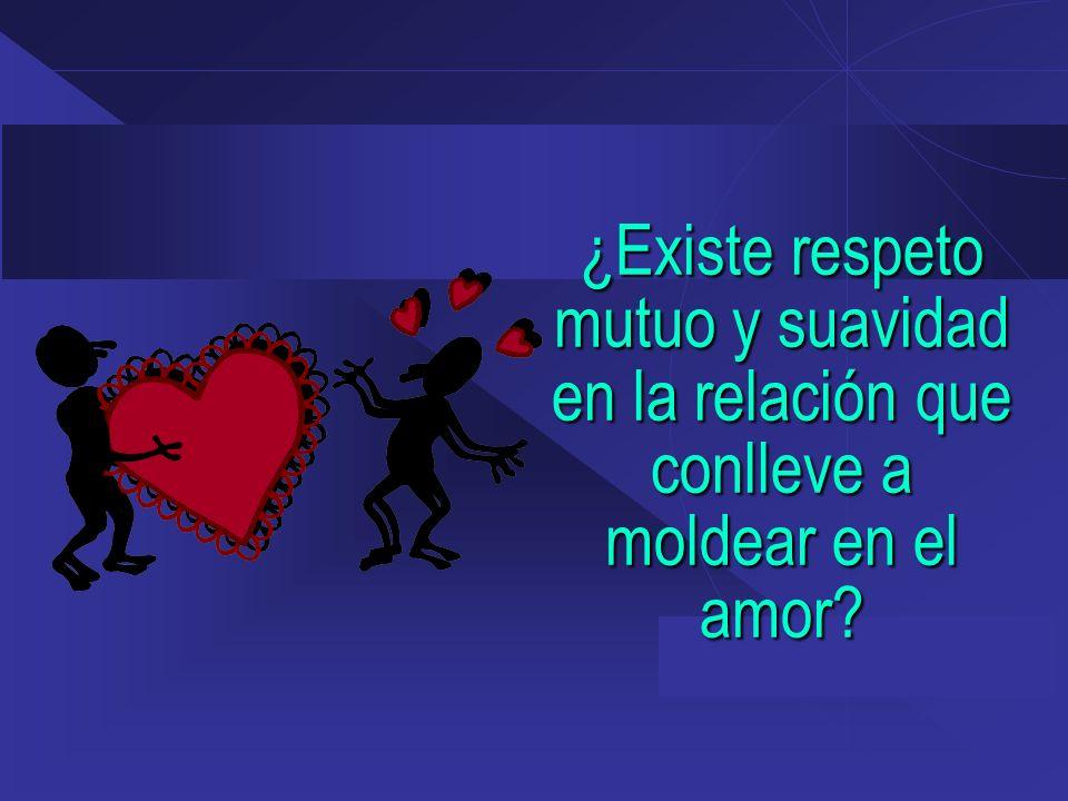¿Existe respeto mutuo y suavidad en la relación que conlleve a moldear en el amor?
