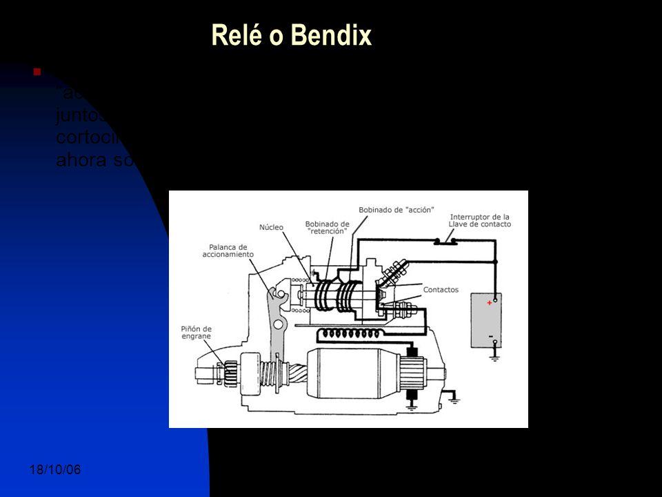 18/10/06 DuocUc, Ingenería Mecánica Automotriz y Autotrónica 10 El Bendix (Relé) posee dos arrollamientos (bobinas), uno de acción y otro de retención