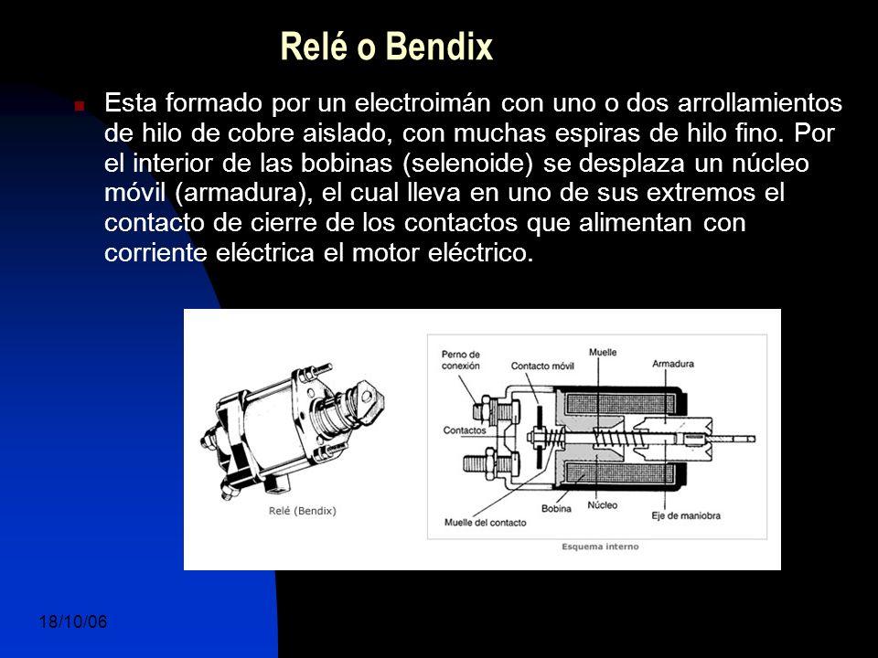 18/10/06 DuocUc, Ingenería Mecánica Automotriz y Autotrónica 11 Esta formado por un electroimán con uno o dos arrollamientos de hilo de cobre aislado, con muchas espiras de hilo fino.