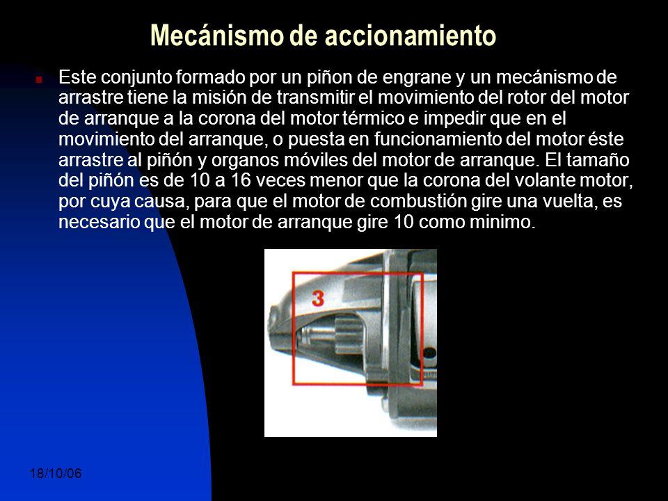 18/10/06 DuocUc, Ingenería Mecánica Automotriz y Autotrónica 12 Mecánismo de accionamiento Este conjunto formado por un piñon de engrane y un mecánism