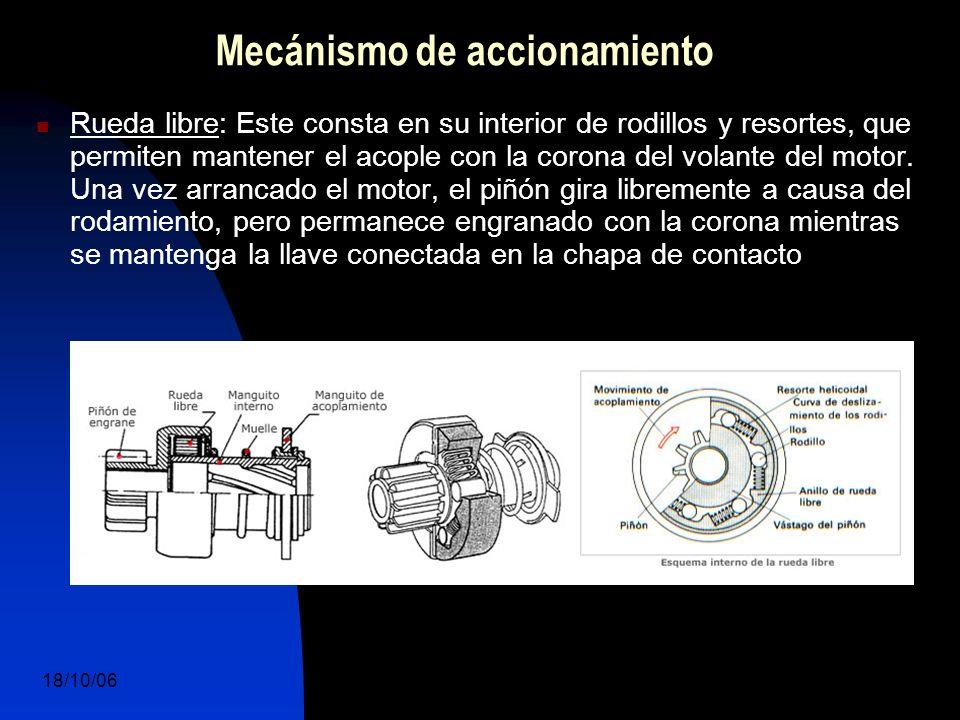 18/10/06 DuocUc, Ingenería Mecánica Automotriz y Autotrónica 14 Rueda libre: Este consta en su interior de rodillos y resortes, que permiten mantener el acople con la corona del volante del motor.