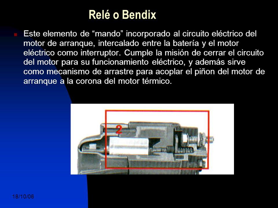 18/10/06 DuocUc, Ingenería Mecánica Automotriz y Autotrónica 9 Este elemento de mando incorporado al circuito eléctrico del motor de arranque, intercalado entre la batería y el motor eléctrico como interruptor.