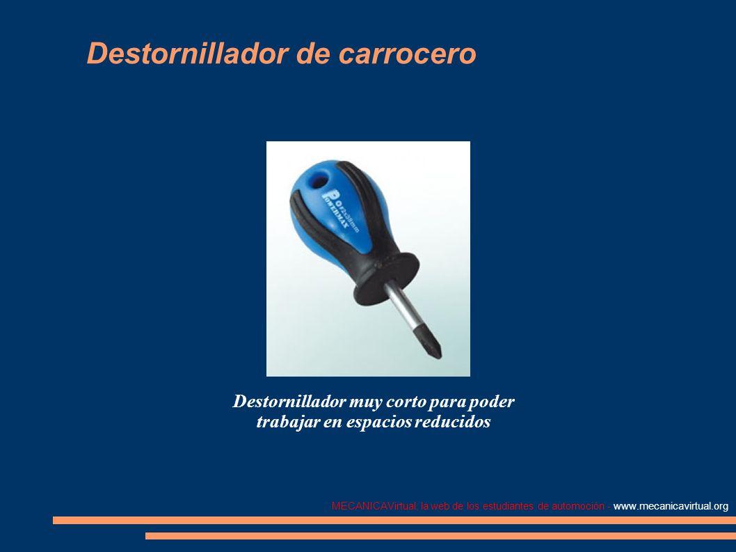 MECANICAVirtual, la web de los estudiantes de automoción - www.mecanicavirtual.org Destornillador de carrocero Destornillador muy corto para poder tra