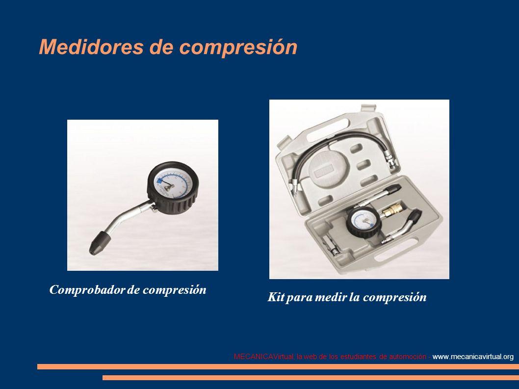 MECANICAVirtual, la web de los estudiantes de automoción - www.mecanicavirtual.org Medidores de compresión Comprobador de compresión Kit para medir la