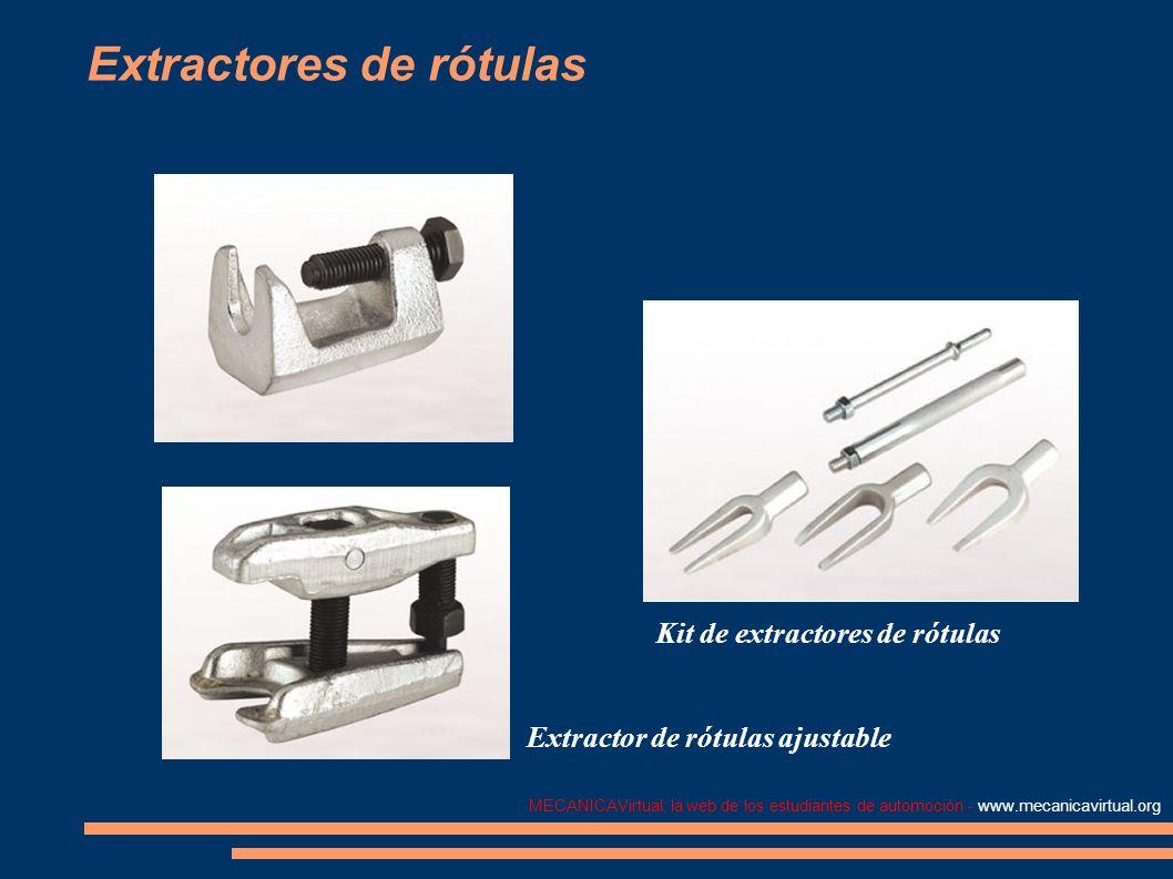 MECANICAVirtual, la web de los estudiantes de automoción - www.mecanicavirtual.org Extractores de rótulas Kit de extractores de rótulas Extractor de r