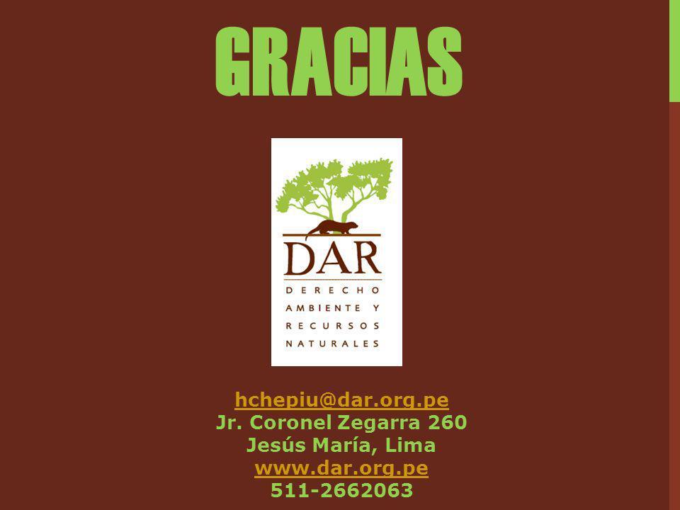 hchepiu@dar.org.pe Jr. Coronel Zegarra 260 Jesús María, Lima www.dar.org.pe 511-2662063