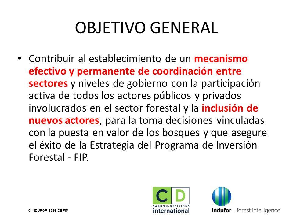 OBJETIVO GENERAL Contribuir al establecimiento de un mecanismo efectivo y permanente de coordinación entre sectores y niveles de gobierno con la parti