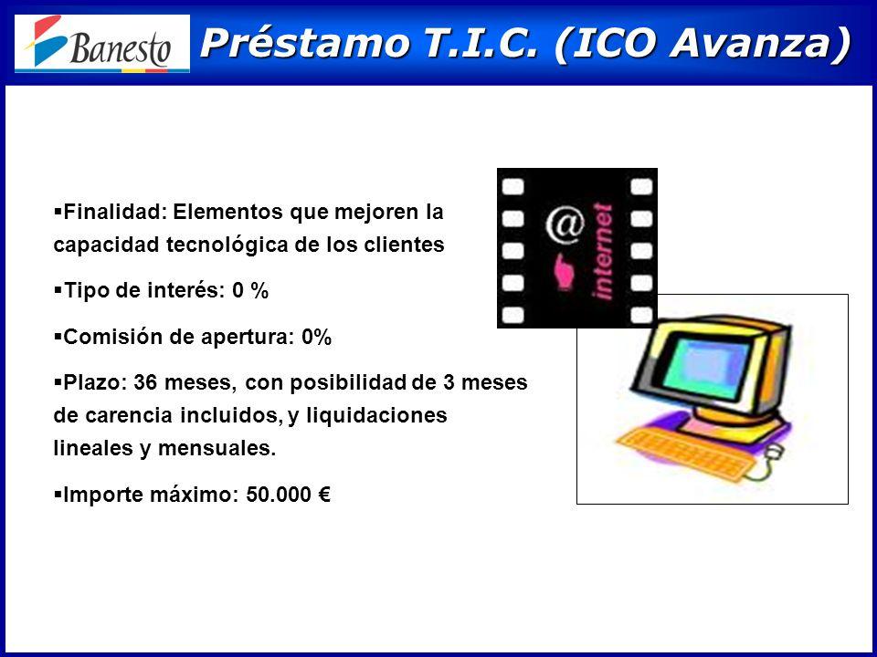 Préstamo T.I.C. (ICO Avanza) Préstamo T.I.C.