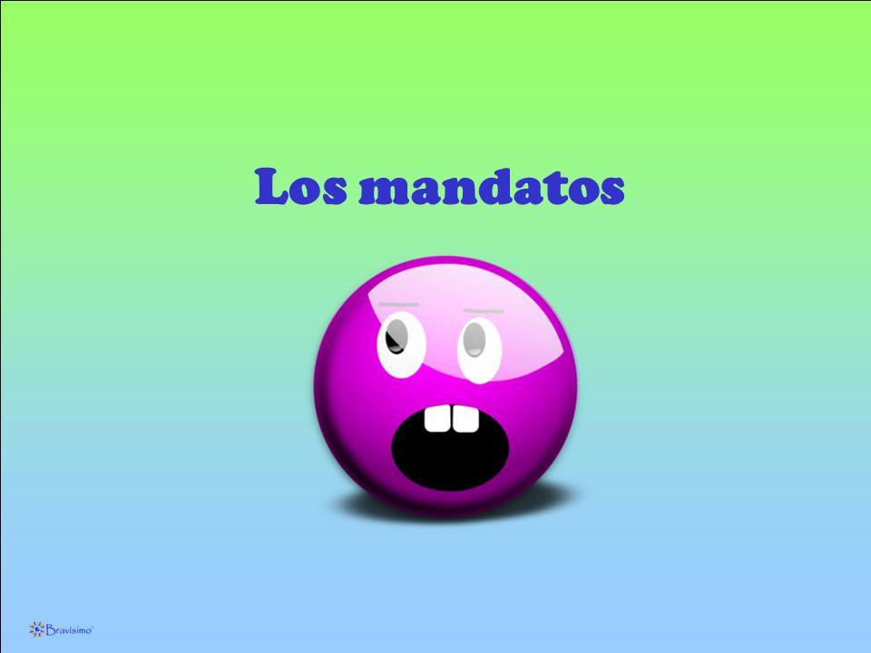 Los mandatos afirmativos con tú Habla español en la clase, por favor.