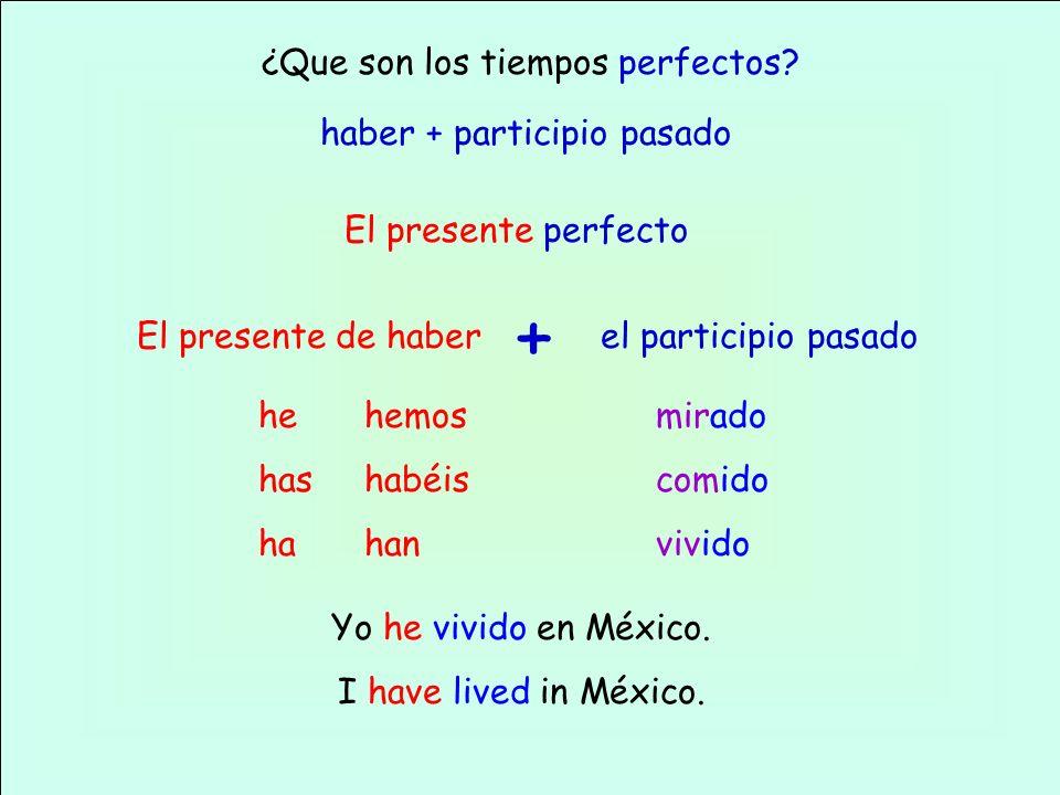 El presente perfecto del subjuntivo