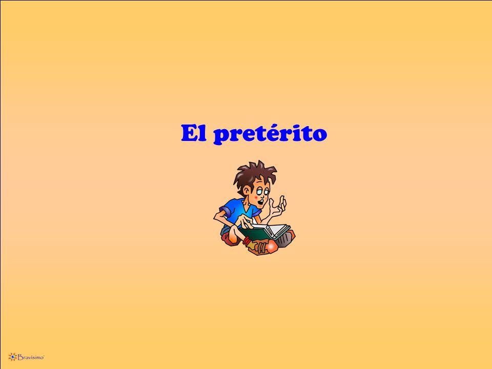 1.Los verbos regulares 2.Los verbos que terminan en –car, -gar, -zar 3.Los verbos que terminan en –guar 4.Los verbos cuya raíz termina en vocal (i y) 5.Los verbos de cambio radical o uee i 6.Los verbos completamente irregulares El pretérito