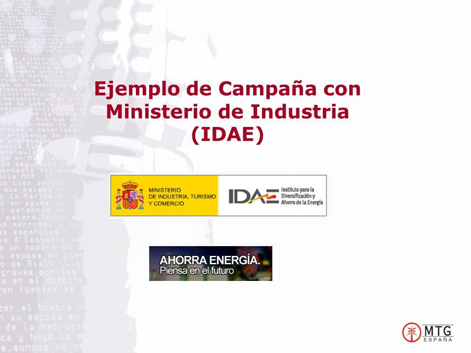 Ejemplo de Campaña con Ministerio de Industria (IDAE)