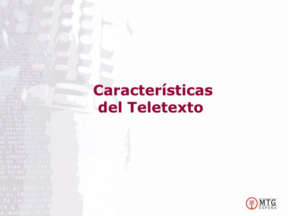 Características del Teletexto