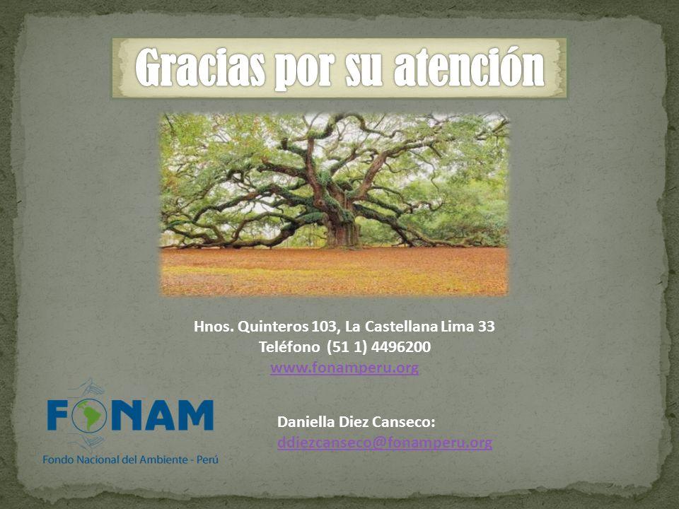 Hnos. Quinteros 103, La Castellana Lima 33 Teléfono (51 1) 4496200 www.fonamperu.org Daniella Diez Canseco: ddiezcanseco@fonamperu.org ddiezcanseco@fo