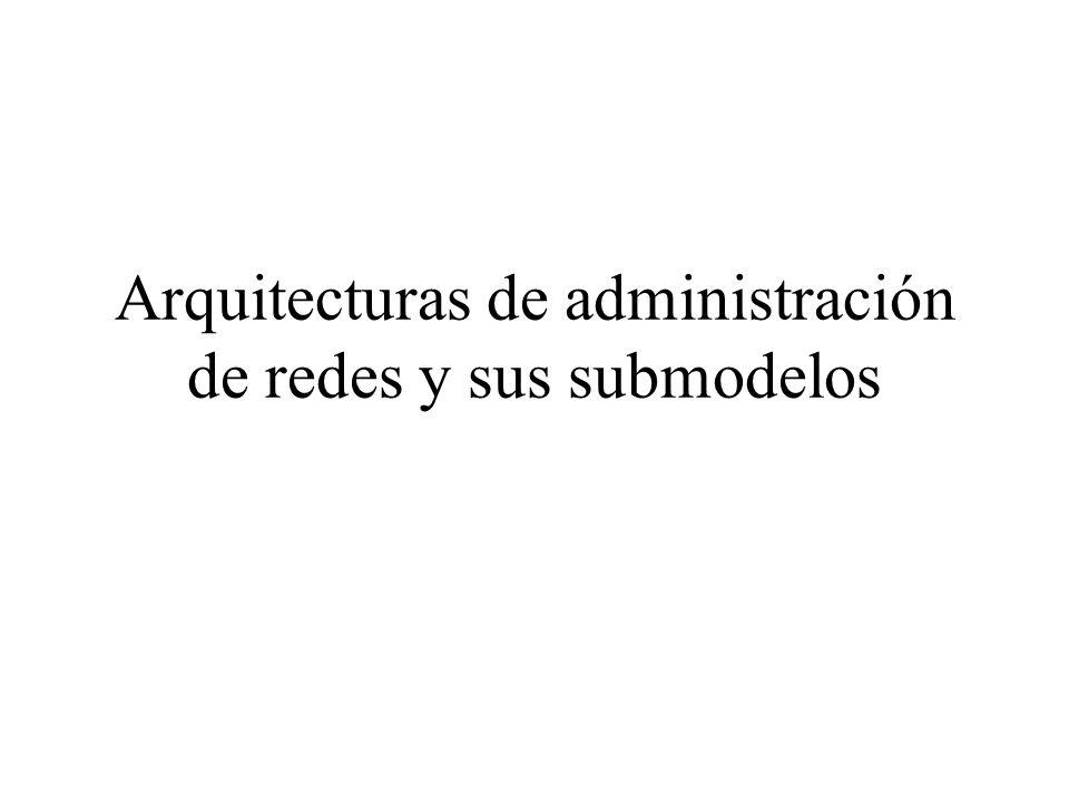 Arquitecturas de administración de redes y sus submodelos