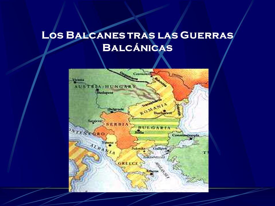Los Balcanes tras las Guerras Balcánicas
