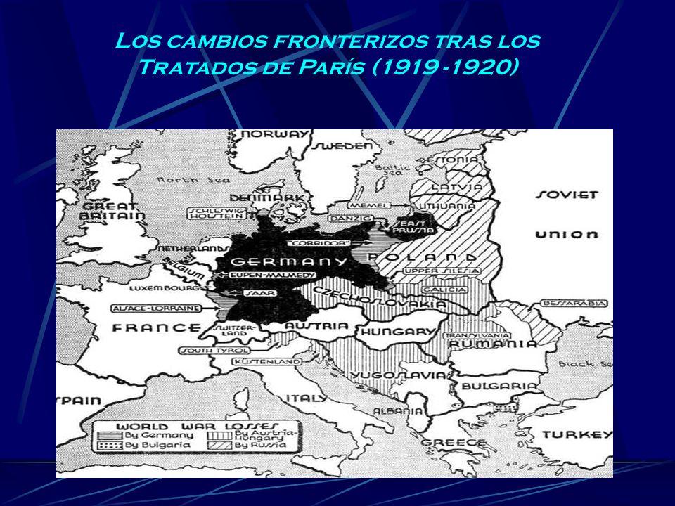 Los cambios fronterizos tras los Tratados de París (1919 -1920)