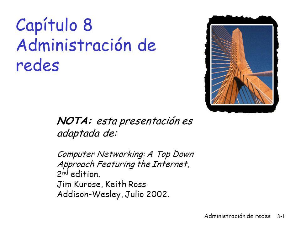 Administración de redes8-22 Problema de Presentación: posibles soluciones 1.