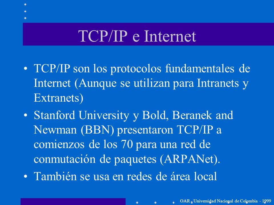 ¿Qué es TCP/IP? El nombre TCP/IP se refiere a una suite de protocolos de datos. El nombre viene de 2 de los protocolos que lo conforman: –Transmission