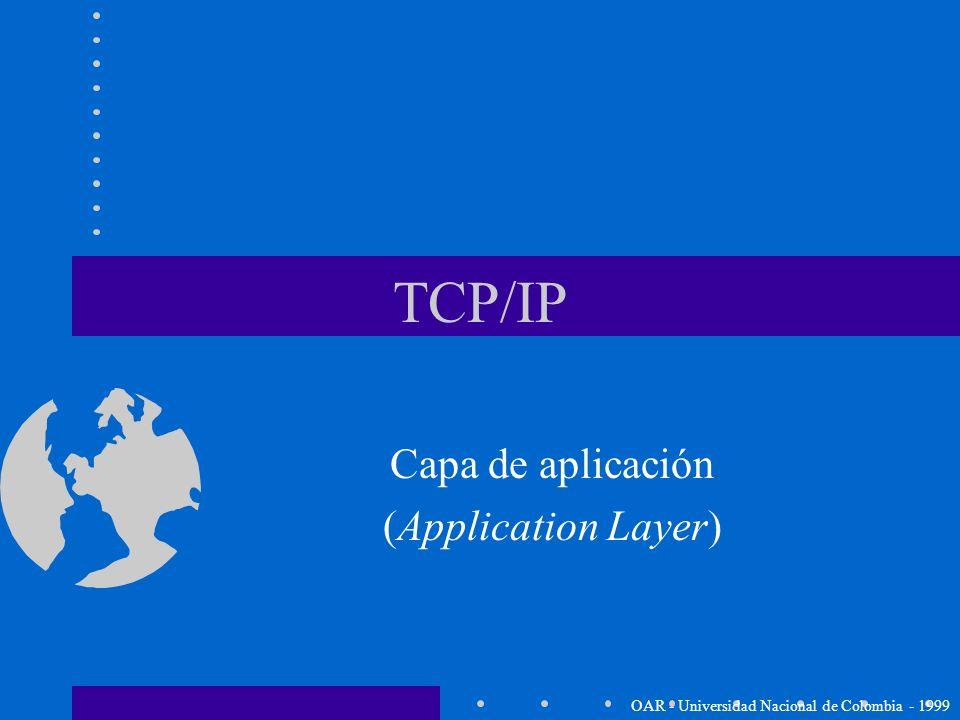 Paso de datos a la capa de aplicación Capa de Acceso de Red Capa Internet Capa de transporte Capa de aplicación DATOS Header TCP también es el respons