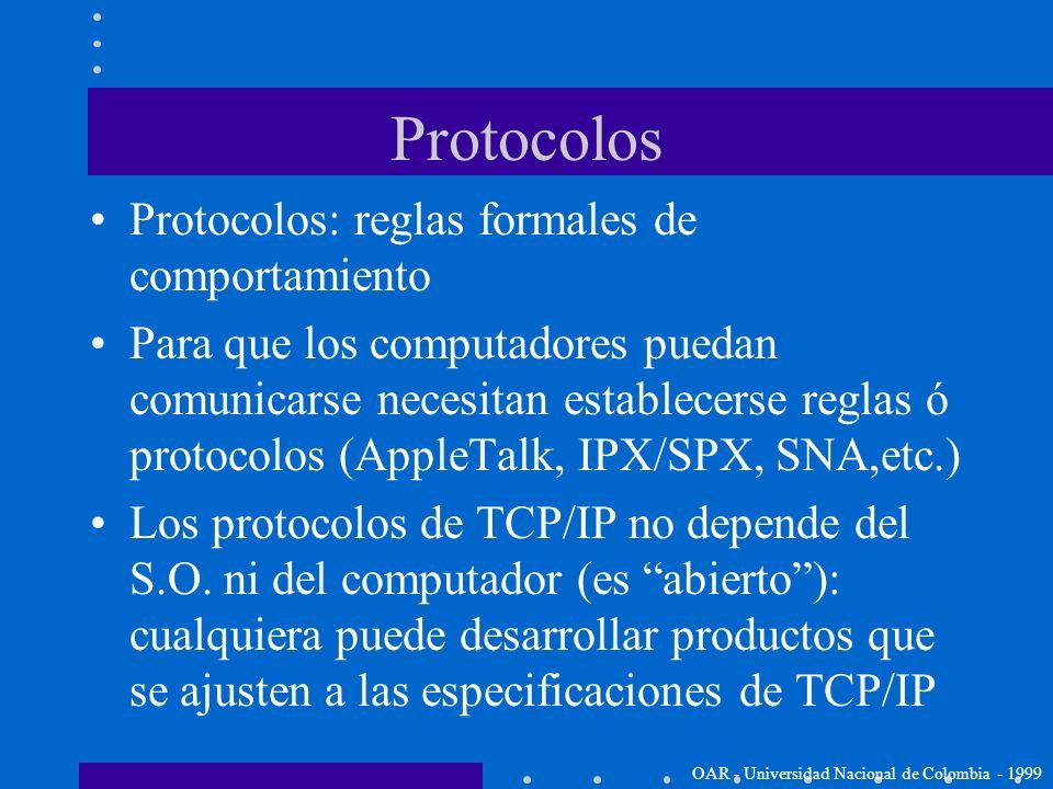 ¿Por qué es popular TCP/IP? Los estándares de los protocolos son abiertos: interconecta equipos de diferentes fabricantes sin problema. Independiente