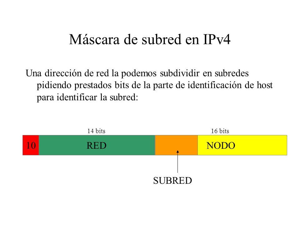 Notación decimal con puntos En lugar de utilizar binarios para representar la dirección IPv4: 10101000101100000000000100110010 Podemos separarlos en b