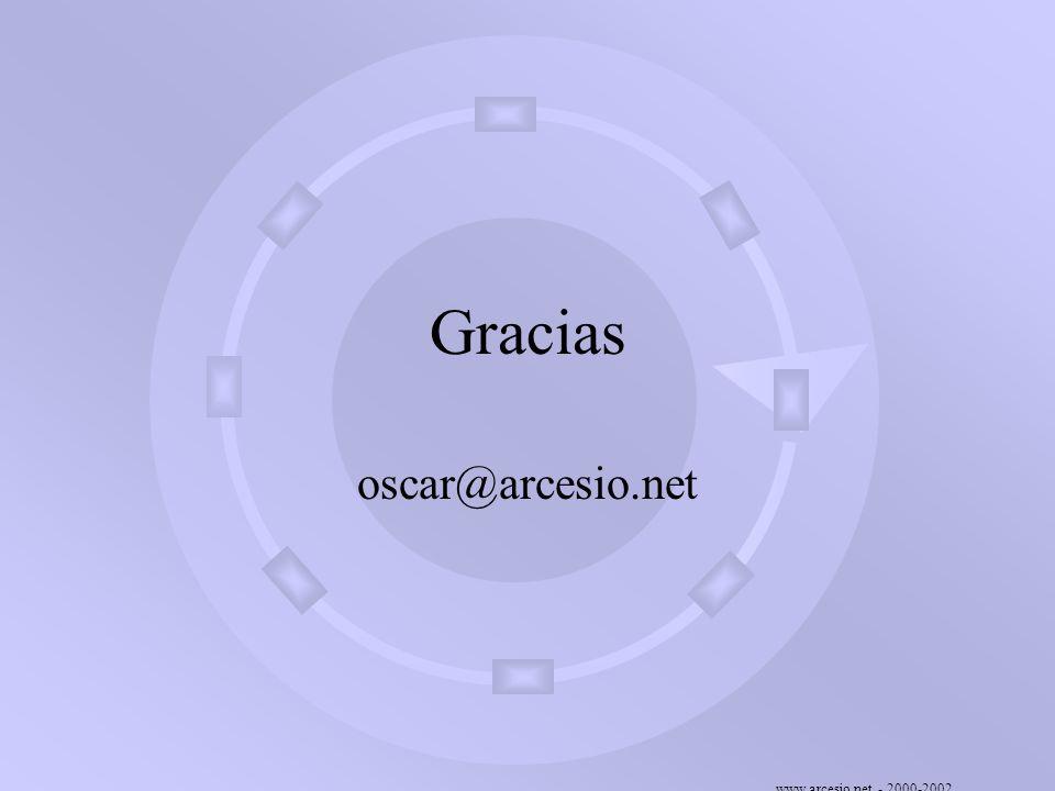 www.arcesio.net - 2000-2002 Gracias oscar@arcesio.net