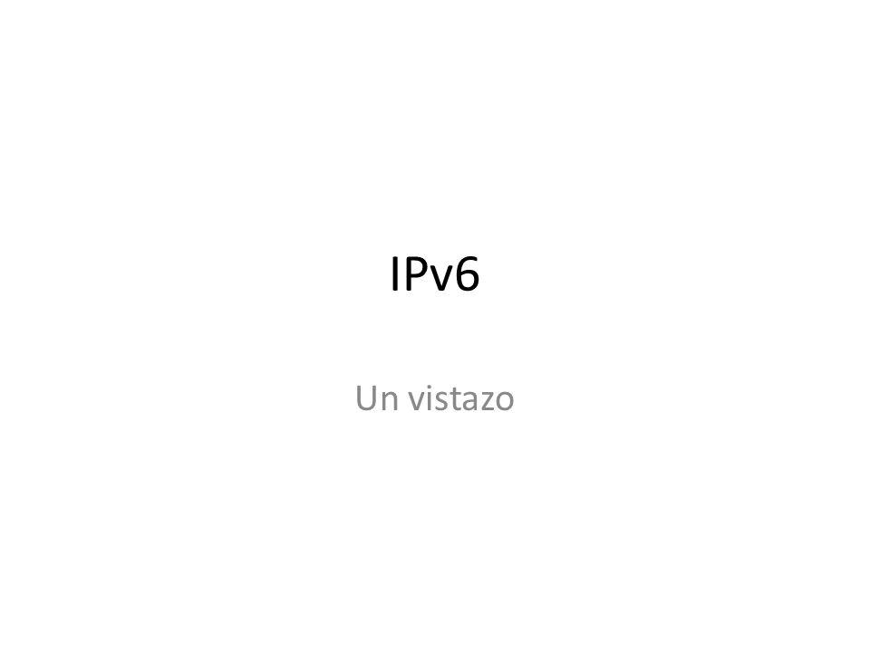 Representación en texto de prefijos de red en IPv6 La representación de prefijos de red es similar a la utilizada en IPv4 en notación CIDR.