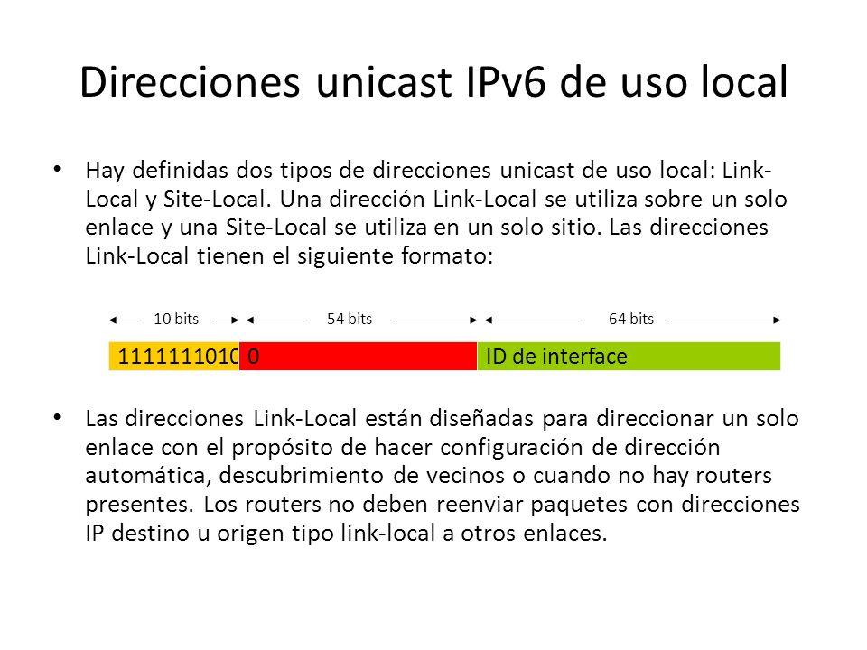 Direcciones IPv6 con direcciones IPv4 embebidas También se define un segundo tipo de dirección IPv6 que tiene una dirección IPv4 embebida. Este tipo d