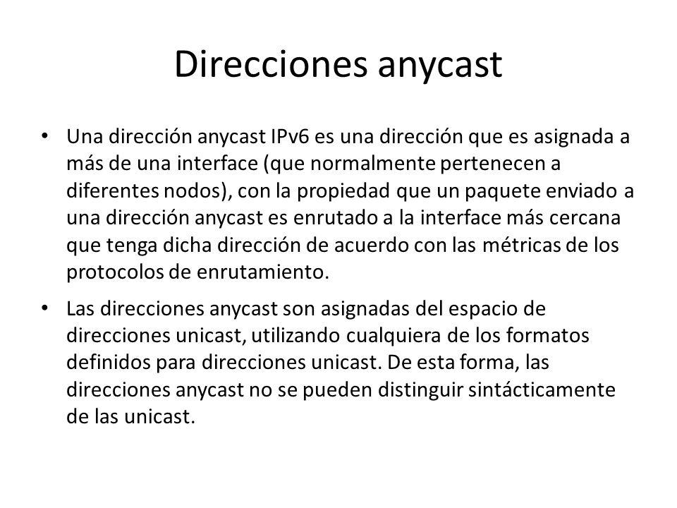 Direcciones unicast IPv6 de uso local Las direcciones Site-Local tienen el siguiente formato: Las direcciones Site-local están diseñadas para ser util