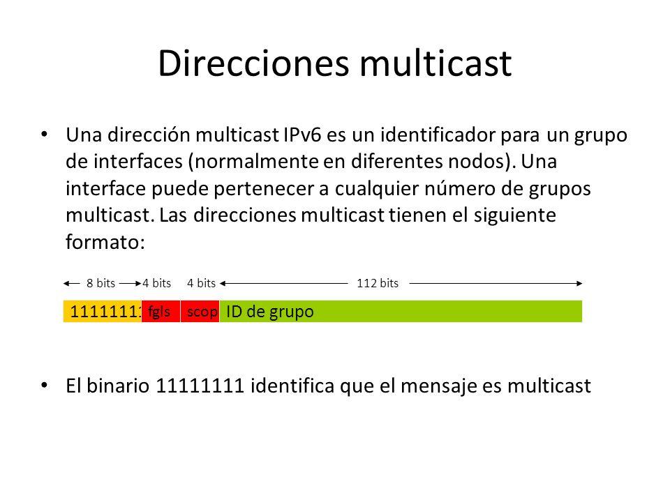 Dirección Anycast requerida Los paquetes enviados a la dirección anycast Subnet-Router serán entregados a un router en la subred. – Todos los routers