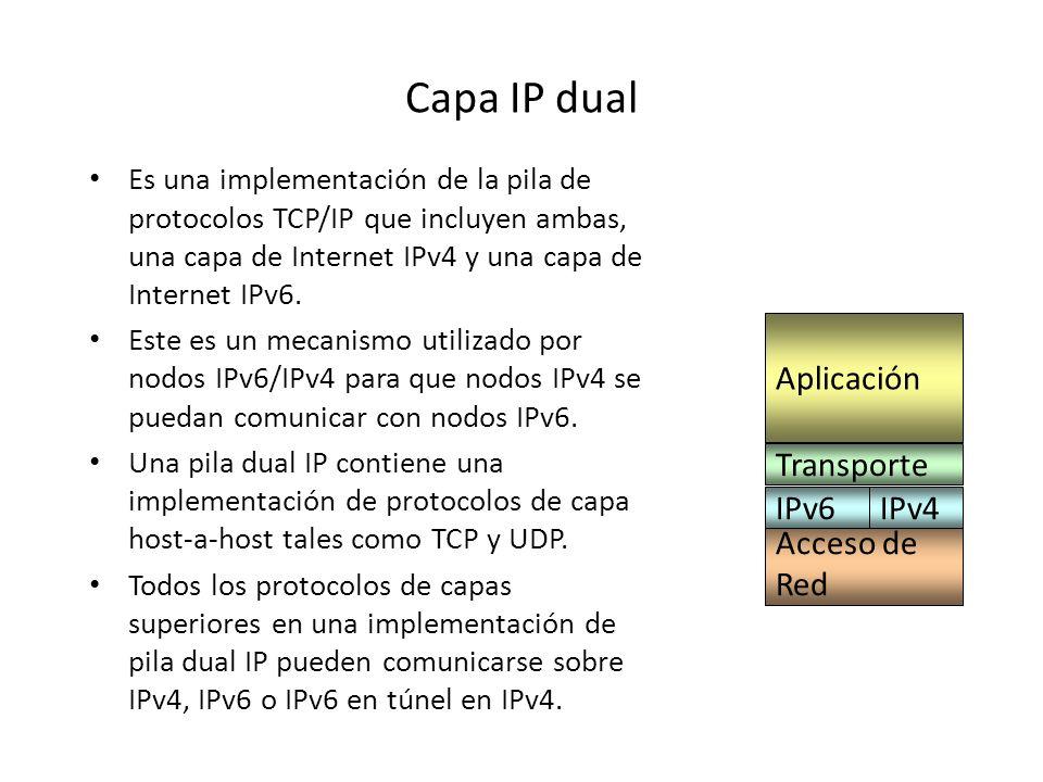 Autoconfiguración IPv4 requiere del servidor DHCP para la autoconfiguración. IPv6 tiene una autoconfiguración llamada stateless, que no requiere de un