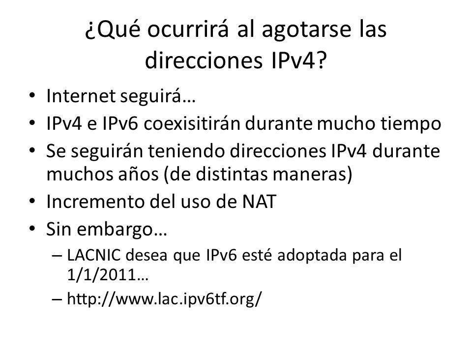 ¿Qué ocurrirá al agotarse las direcciones IPv4.
