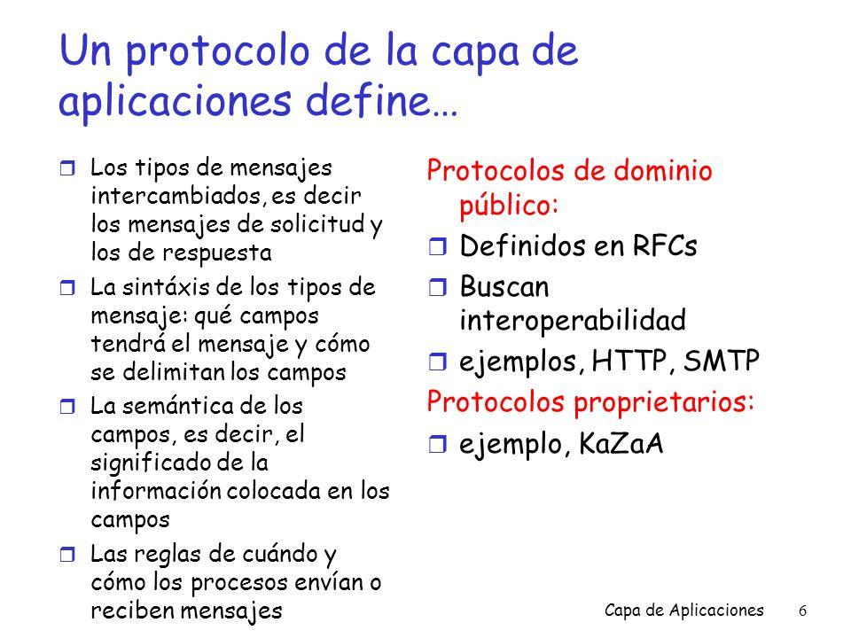 Capa de Aplicaciones27 POP3 e IMAP Más sobre POP3 r El ejemplo anterior utiliza el modo descargue y borre.