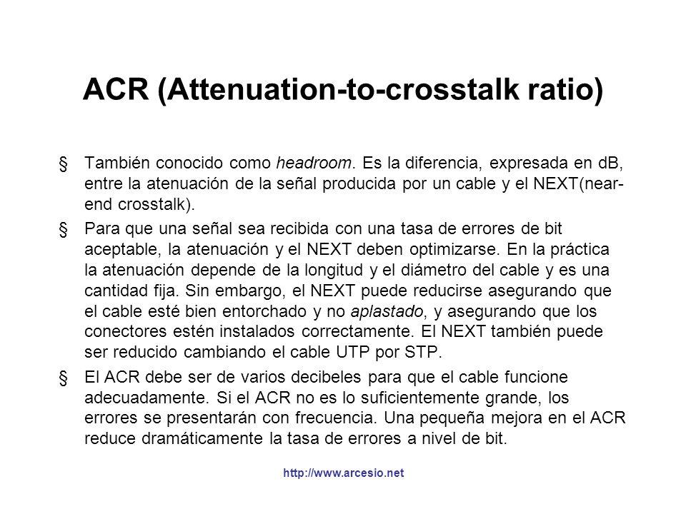 Near End CrossTalk (NEXT) §Interferencia electromagnética causada por una señal generada por un par sobre otro par resultando en ruido. NEXT = 20 Log