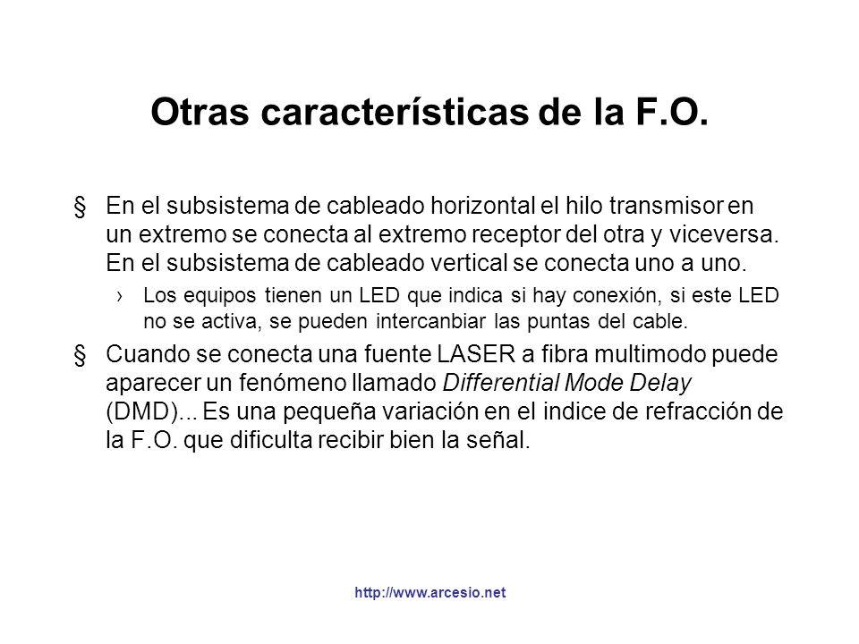 Conectores de fibra óptica (FOC) §Conector ST (Straight Through) - BFOC/2.5 Presentado a comienzos del 85 por AT&T Utiliza un resorte y un seguro de a
