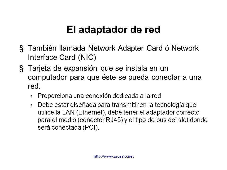 Un nodo (una aproximaxión) http://www.arcesio.net CPU Cache Memoria Adaptador de Red La memoria NO es infinita Es un recurso escaso Todos los nodos se