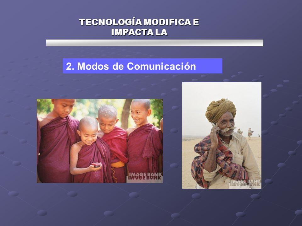 TECNOLOGÍA MODIFICA E IMPACTA LA 2. Modos de Comunicación
