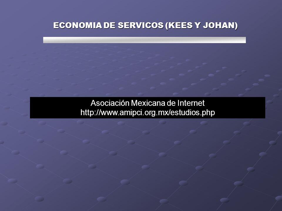 ECONOMIA DE SERVICOS (KEES Y JOHAN) Asociación Mexicana de Internet http://www.amipci.org.mx/estudios.php