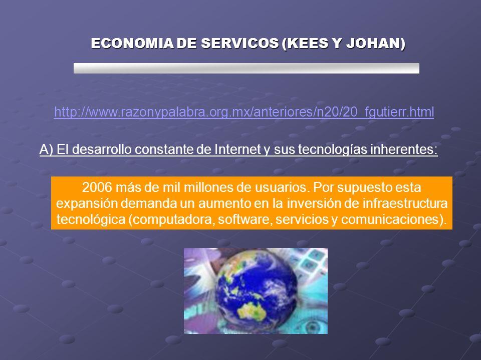 ECONOMIA DE SERVICOS (KEES Y JOHAN) B) El aumento de comercio electrónico entre empresas