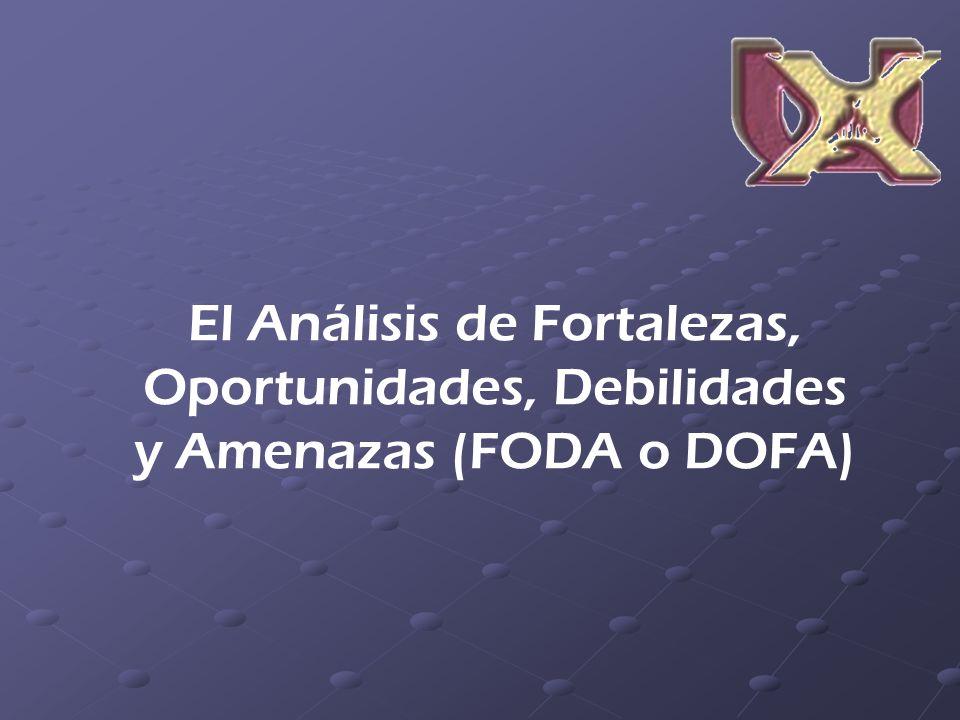 El Análisis de Fortalezas, Oportunidades, Debilidades y Amenazas (FODA o DOFA)