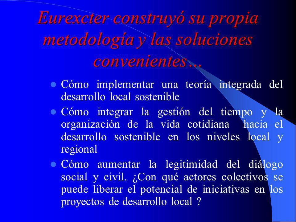 Eurexcter Red europea estable de proyectos territoriales por la innovación y el desarrollo sostenible Desarrolla la participación de los ciudadanos y