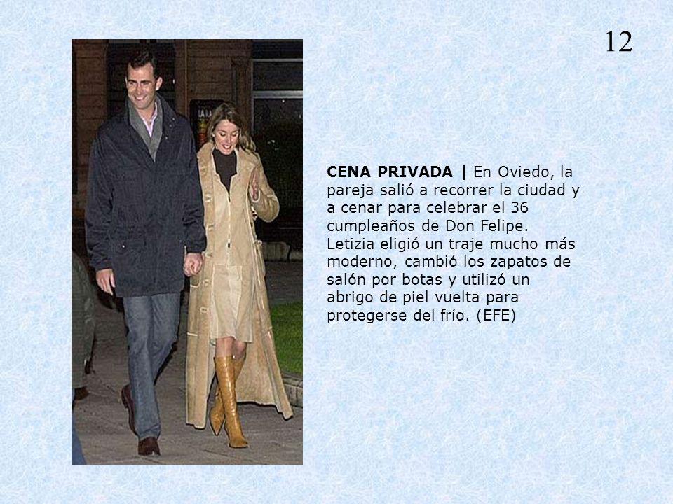 CENA PRIVADA | En Oviedo, la pareja salió a recorrer la ciudad y a cenar para celebrar el 36 cumpleaños de Don Felipe. Letizia eligió un traje mucho m