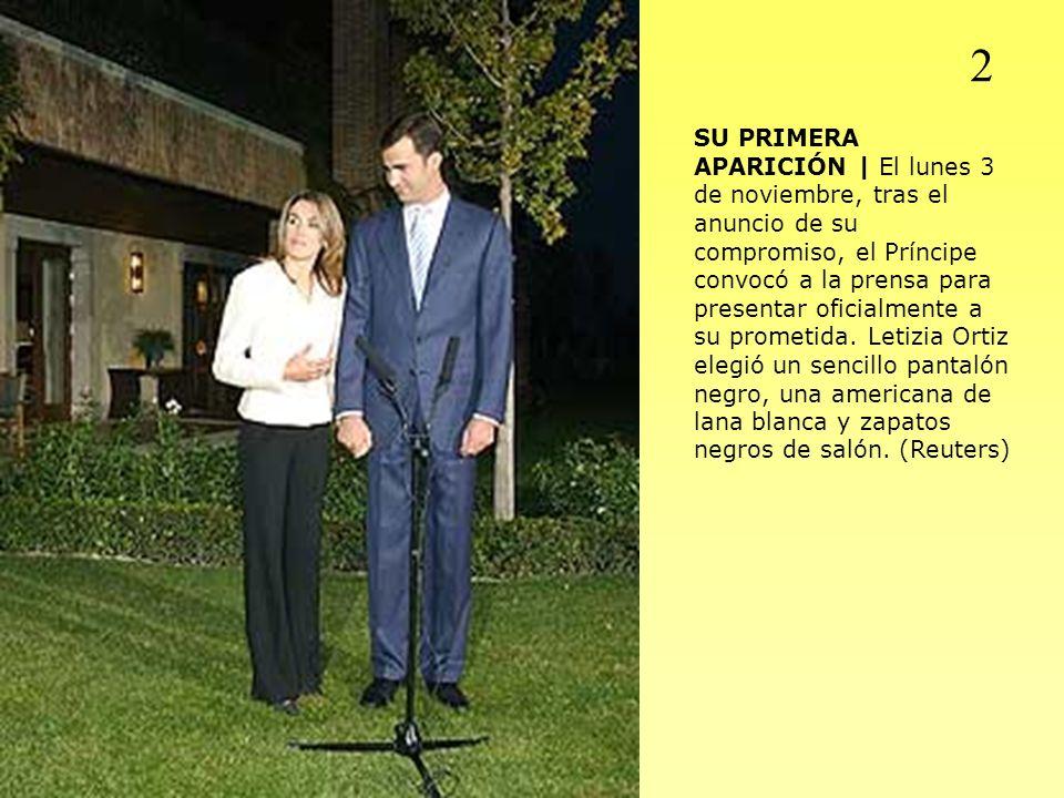 SU PRIMERA APARICIÓN | El lunes 3 de noviembre, tras el anuncio de su compromiso, el Príncipe convocó a la prensa para presentar oficialmente a su pro