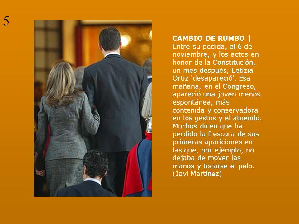 CAMBIO DE RUMBO | Entre su pedida, el 6 de noviembre, y los actos en honor de la Constitución, un mes después, Letizia Ortiz 'desapareció'. Esa mañana